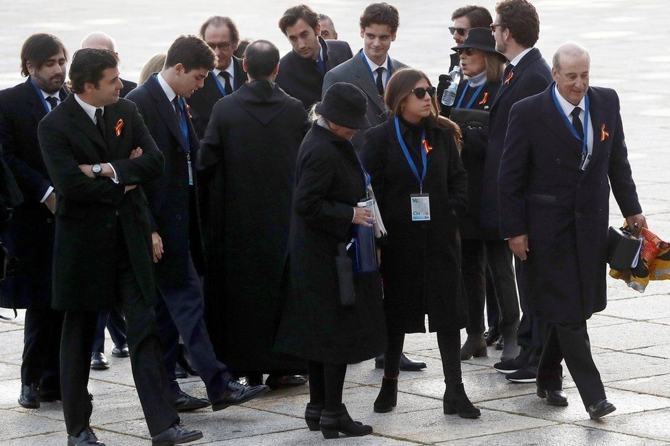 The family of Franco arrive at the monument