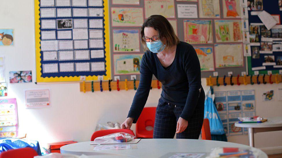 Head teacher Charlotte Beyazian at La Petite Ecole Bilingue in Kentish Town, north London
