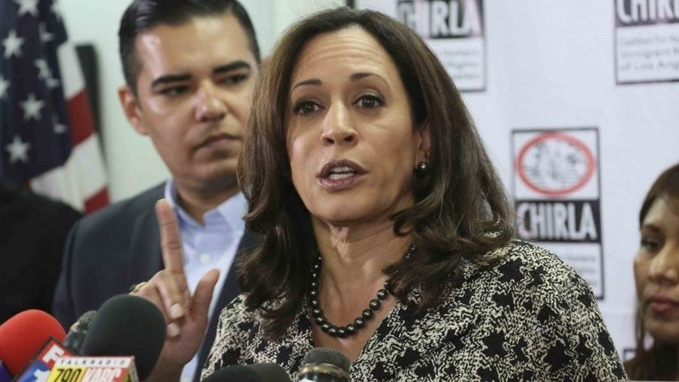 US Senator-elect and California Attorney General Kamala Harris.