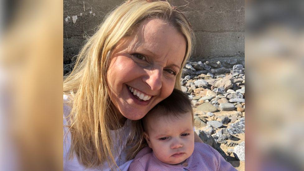 Beth Britten and baby Audrey