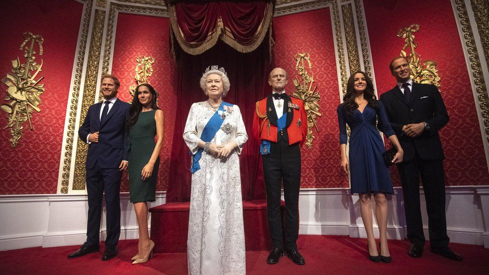 Wax figures of Royal family
