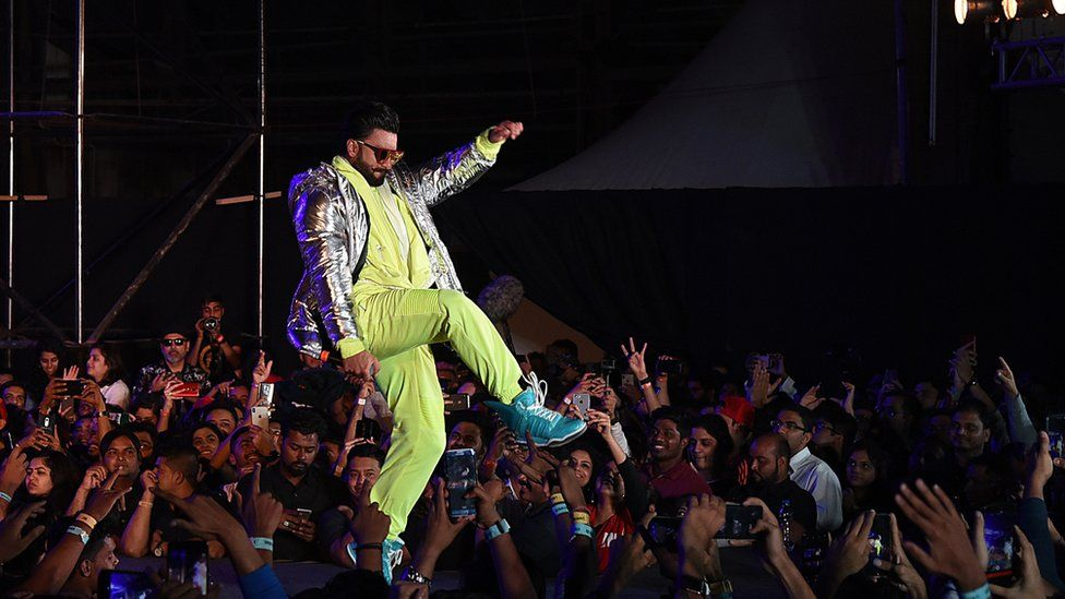 Indian Bollywood actor Ranveer Singh performs during the launch of the upcoming musical drama Hindi film 'Gully Boy' in Mumbai on January 24, 2019.