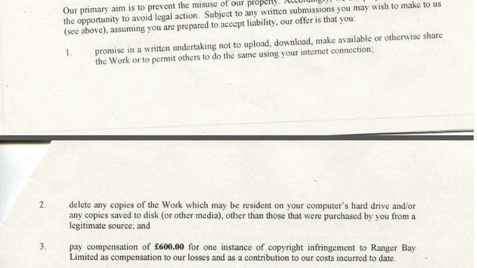 Settlement offer from TCYK LLC to Mrs Drew