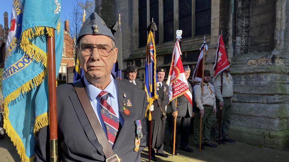 Man with a flag