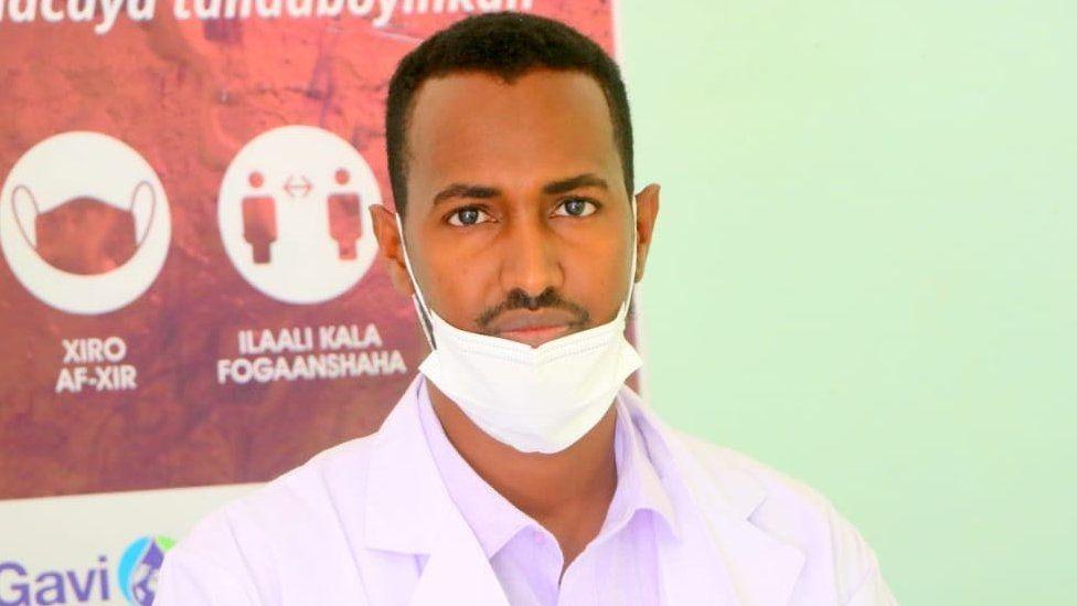 Dr. Jama Mahamud at the Qardho General hospital in Puntland of Somalia