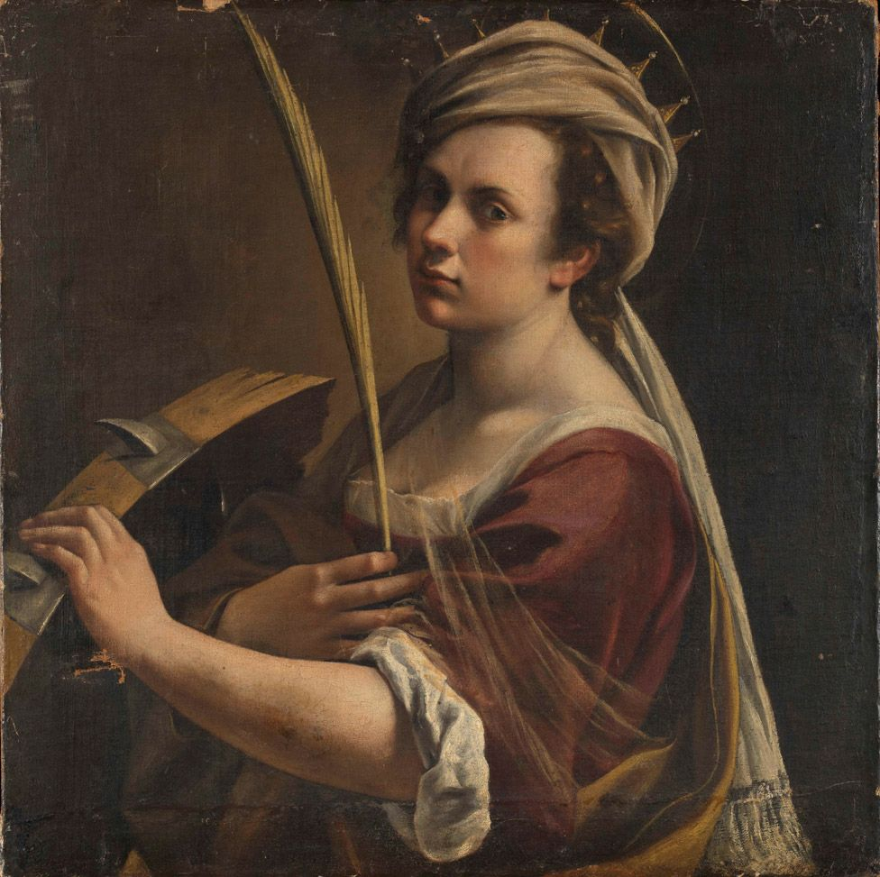 Self Portrait as Saint Catherine of Alexandria by Artemisia Gentileschi