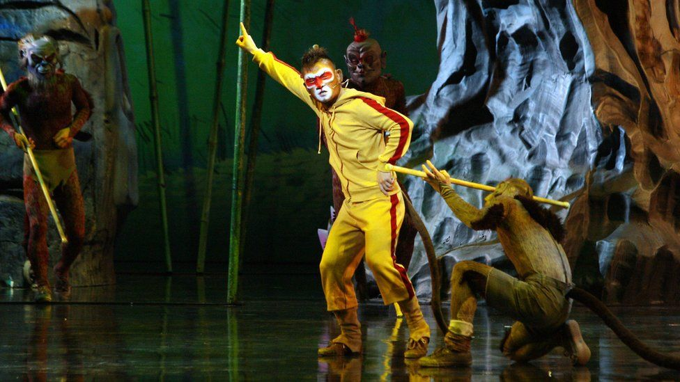 Chinese actors perform a 'Journey to the West' opera in Paris