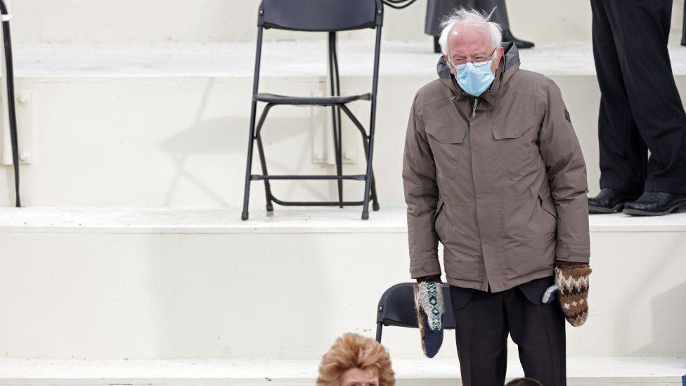 Senator Bernie Sanders the inauguration of US President-elect Joe Biden