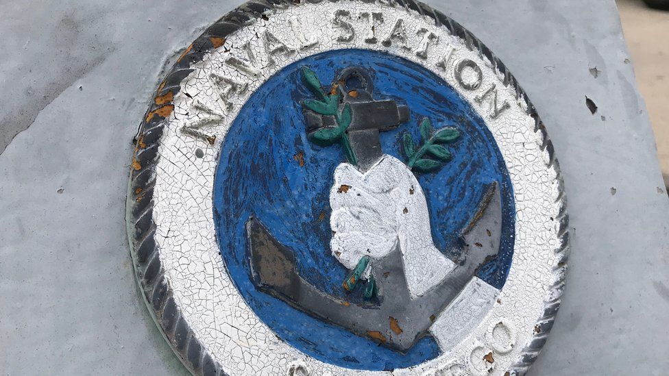 Sign that says naval station