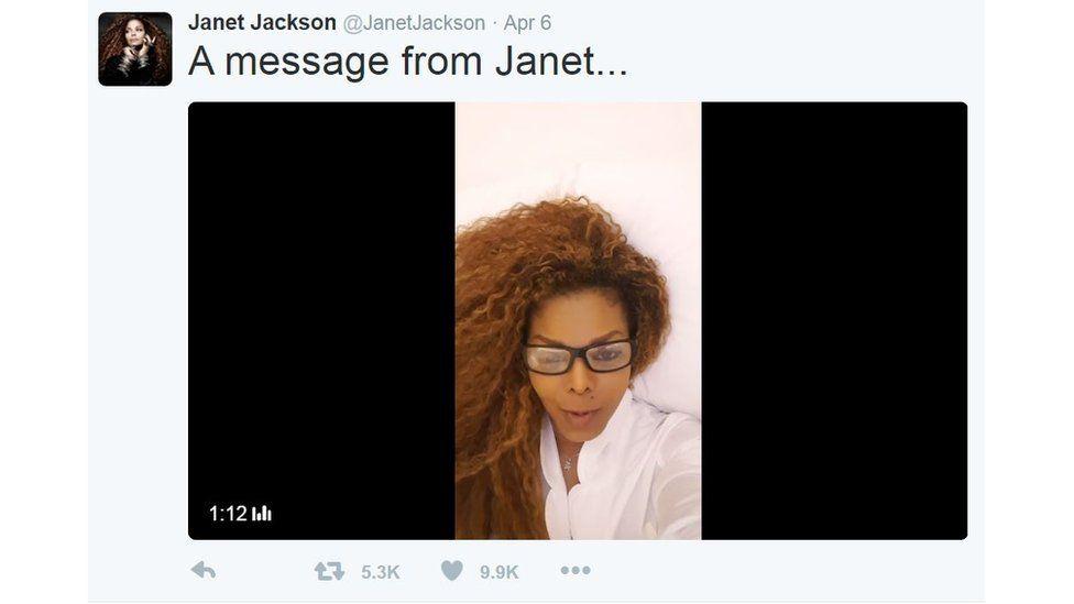 Janet Jacket in a Twitter video