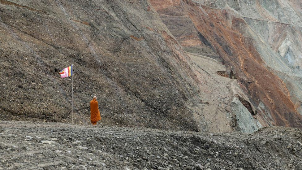 Monk at the site