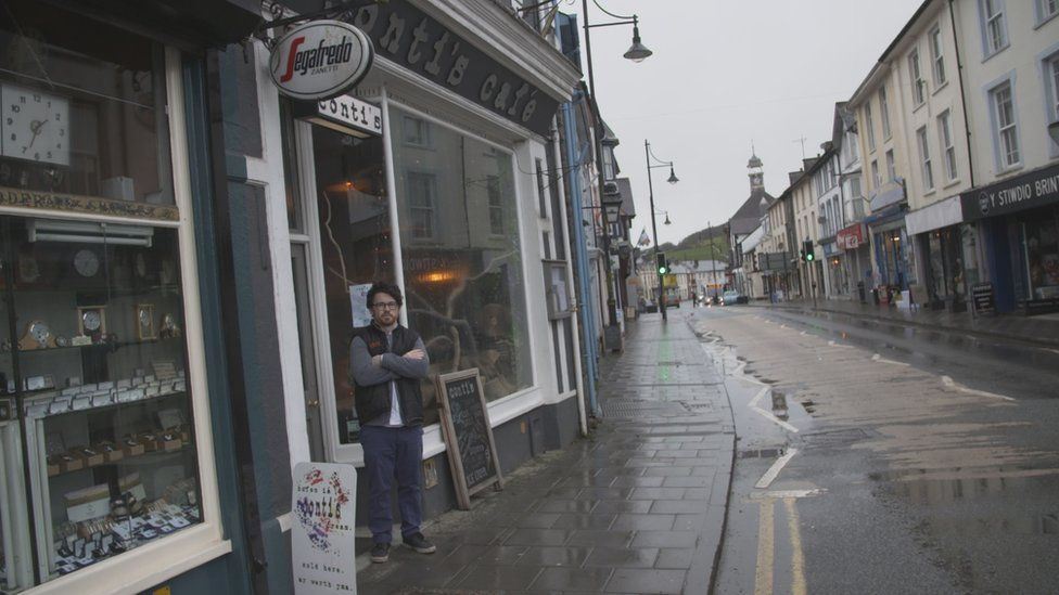 Tom Lewis outside Conti in Lampeter