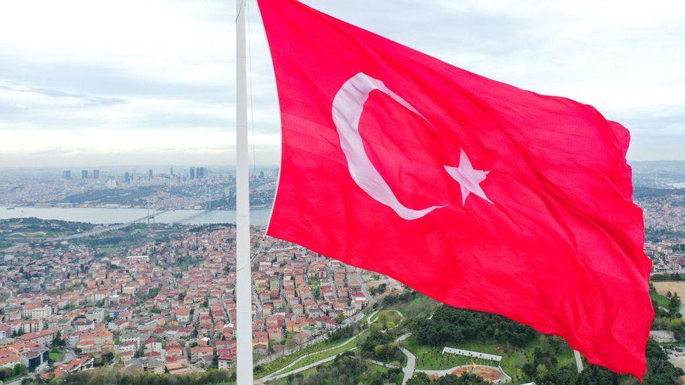 Bendera Turki di Istanbul