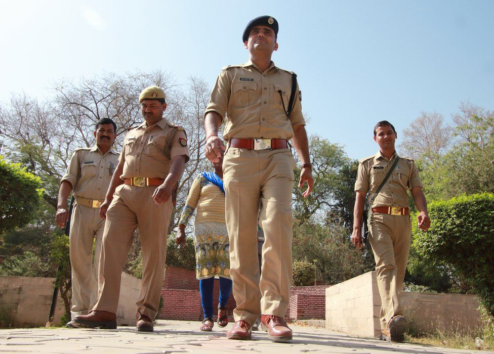 Each squad includes four male uniformed officers and one women officer in plain clothes