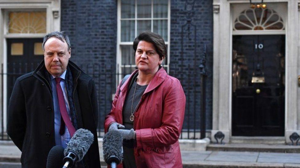 DUP Westminster leader Nigel Dodds and DUP leader Arlene Foster