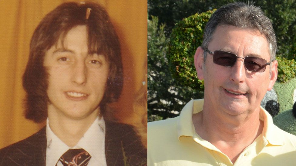 David Horn in 1975 and in the present day