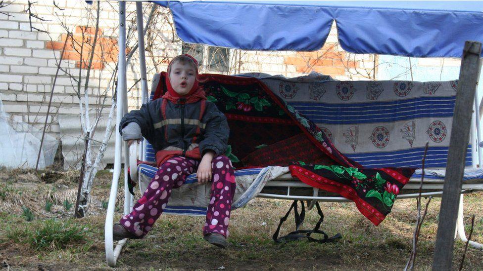 Anya, 11, lives in Mogilev, Belarus with her grandparents
