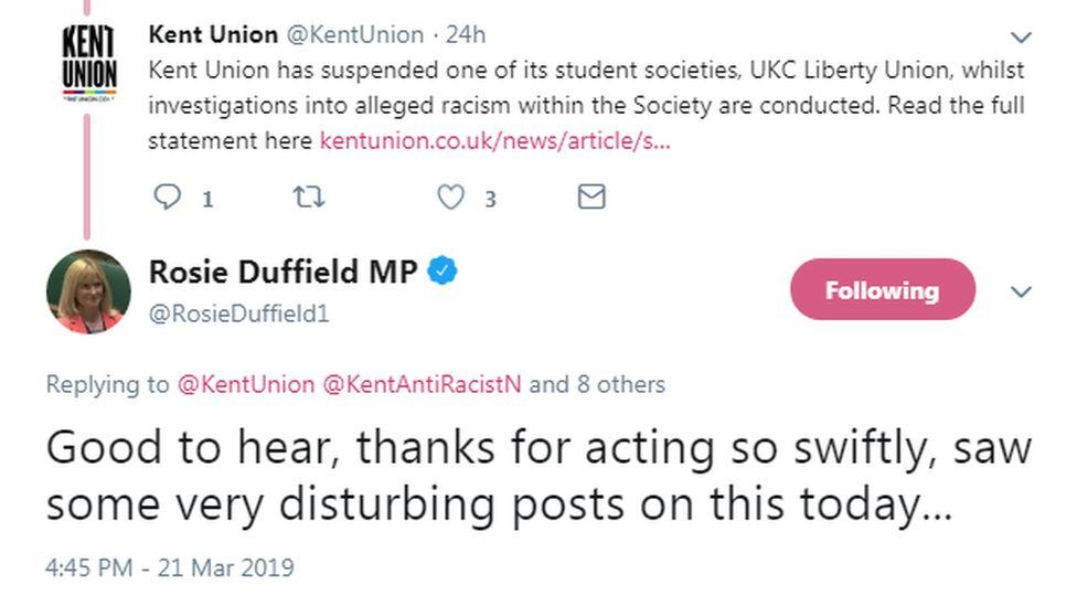 Rosie Duffield's tweet