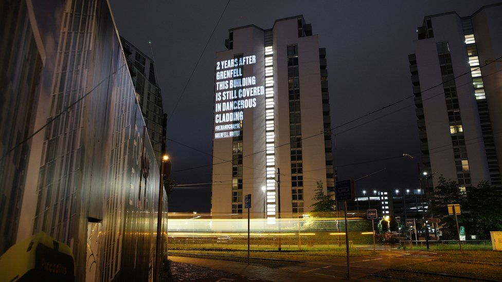 Image of message which appears NV Building in Salford