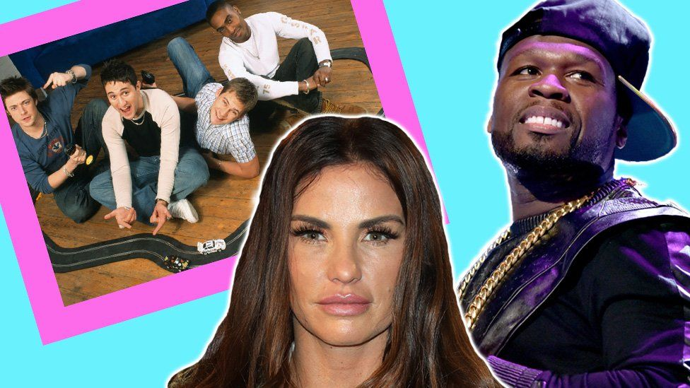 Photoshopped: The band Blue, with Katie Price and 50 Cent