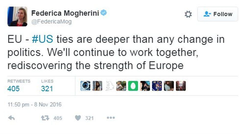 Federica Mogherini tweet