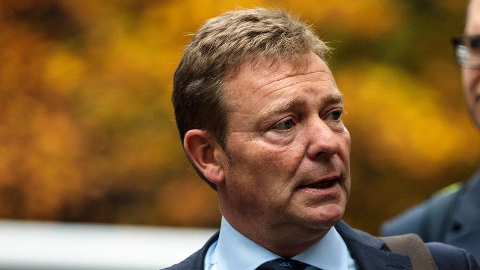 Craig Mackinlay arriving at court on Tuesday 16 October