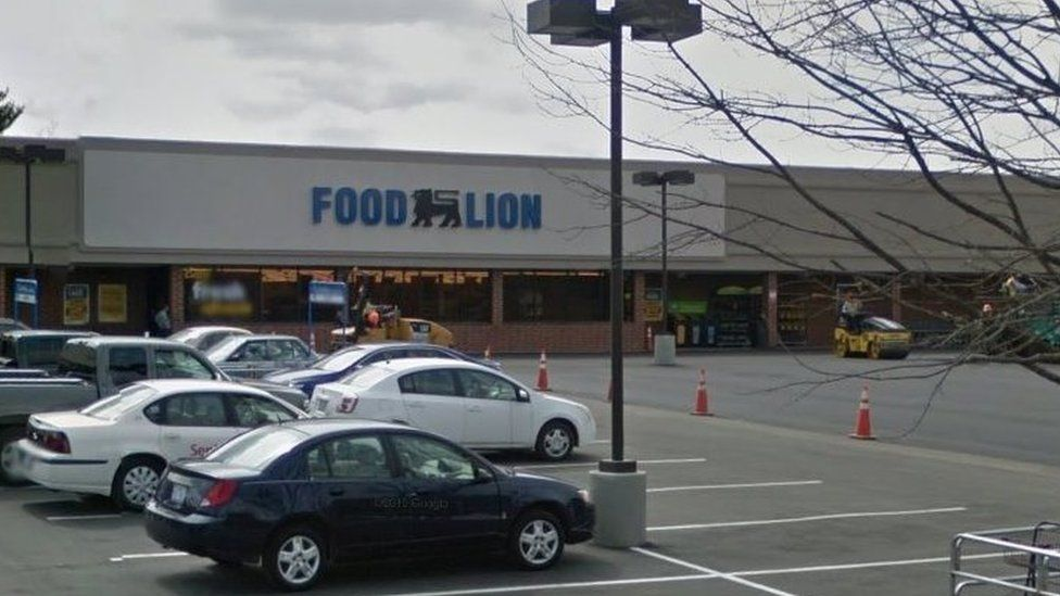 Google street view of the Food Lion store the suspect is accused of stealing from