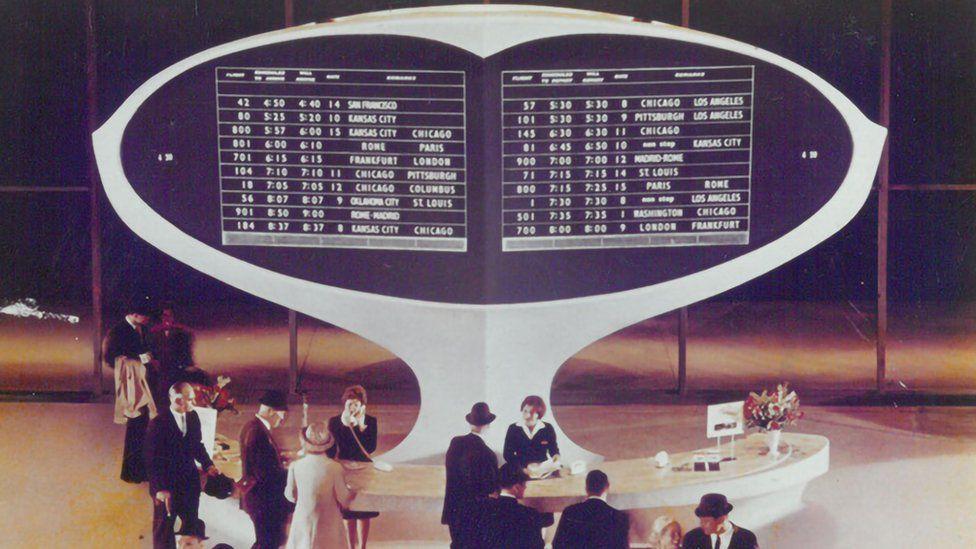 The Solari board at Idlewild airport, New York, 1962