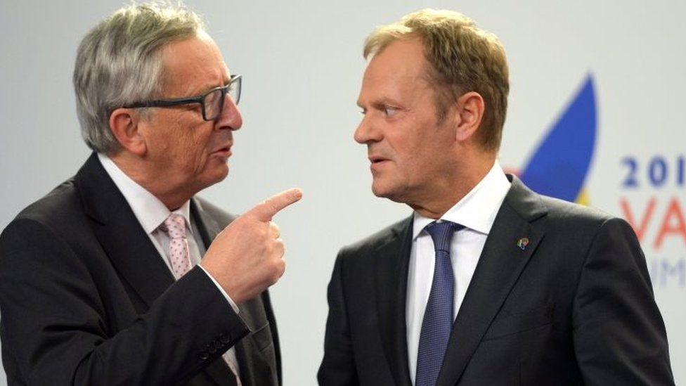 European Commission President Jean-Claude Juncker (left) and European Council President Donald Tusk in Malta. Photo: 12 November 2015