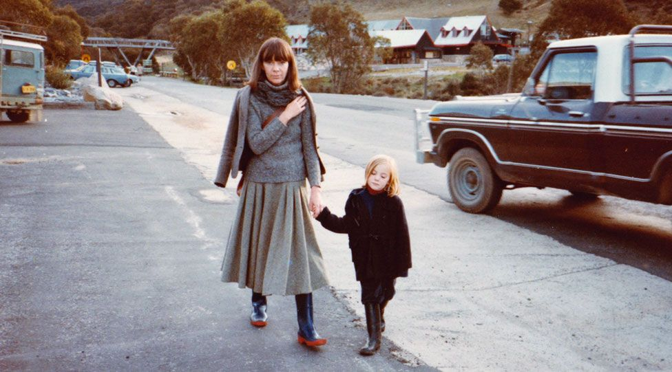Penny Wincer with her mother in 1983