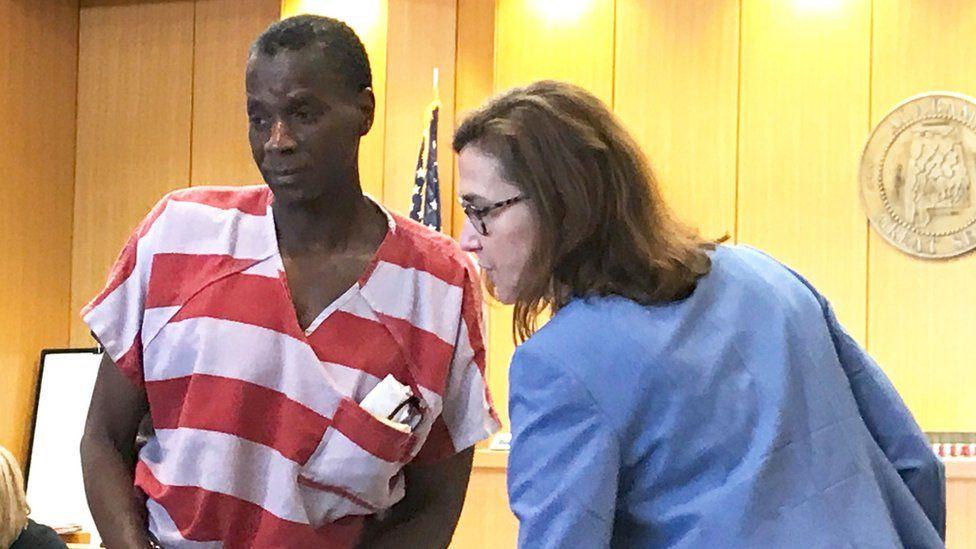 Alvin Kennard is seen in court in a video still