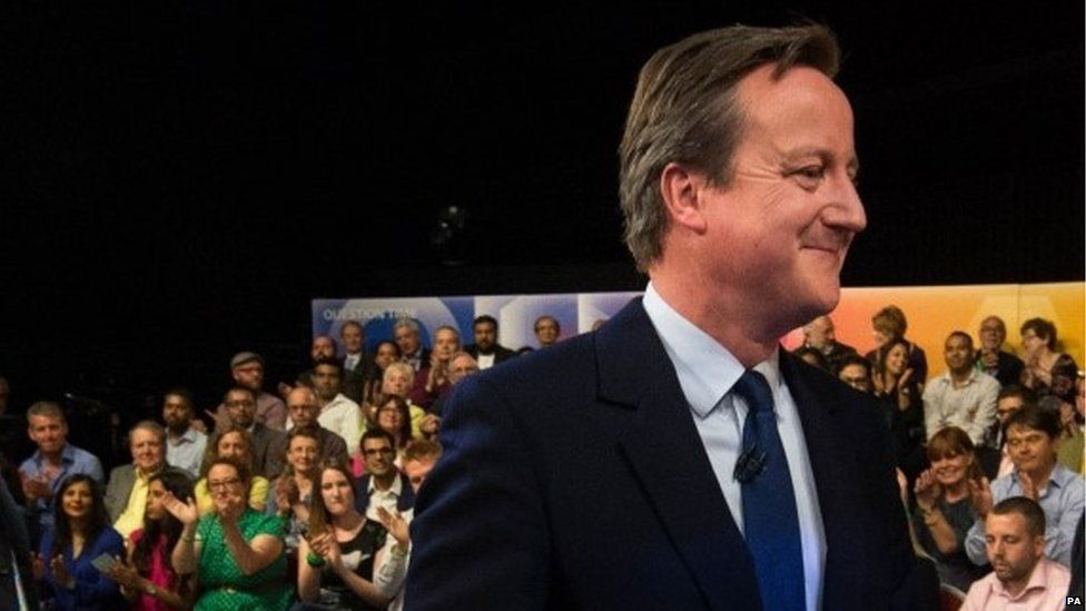 David Cameron on the BBC's Question Time show