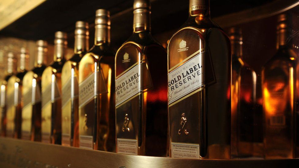 Johnnie Walker bottles