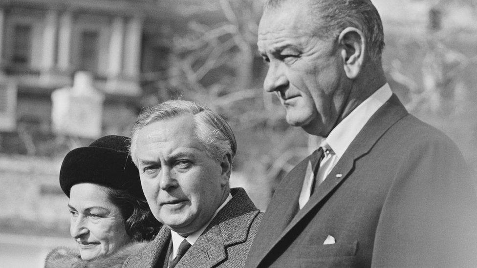 Harold Wilson and Lyndon Johnson