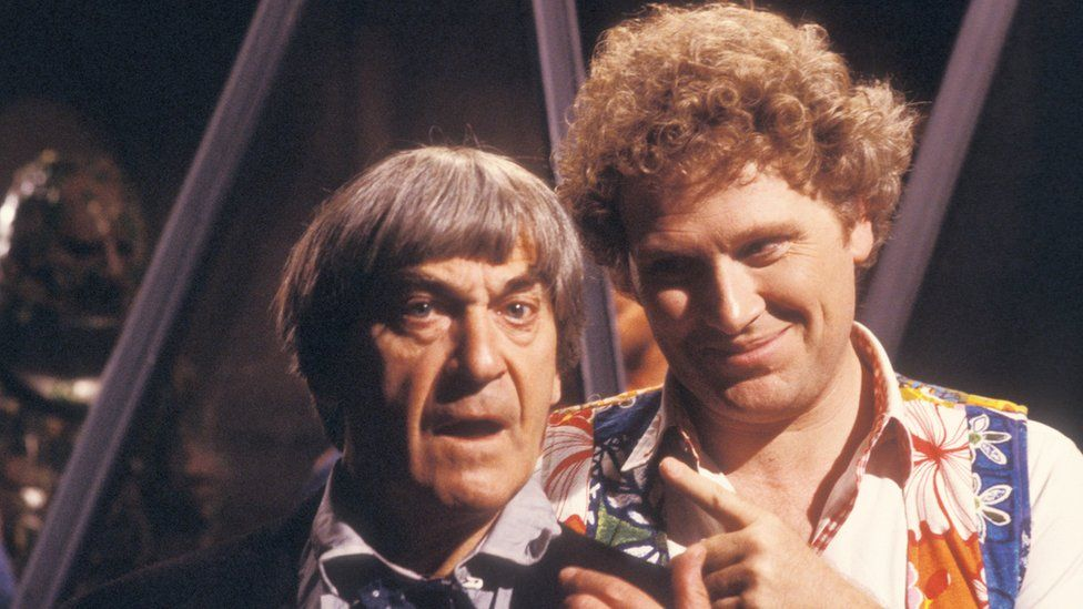 Patrick Troughton and Colin Baker in The Two Doctors
