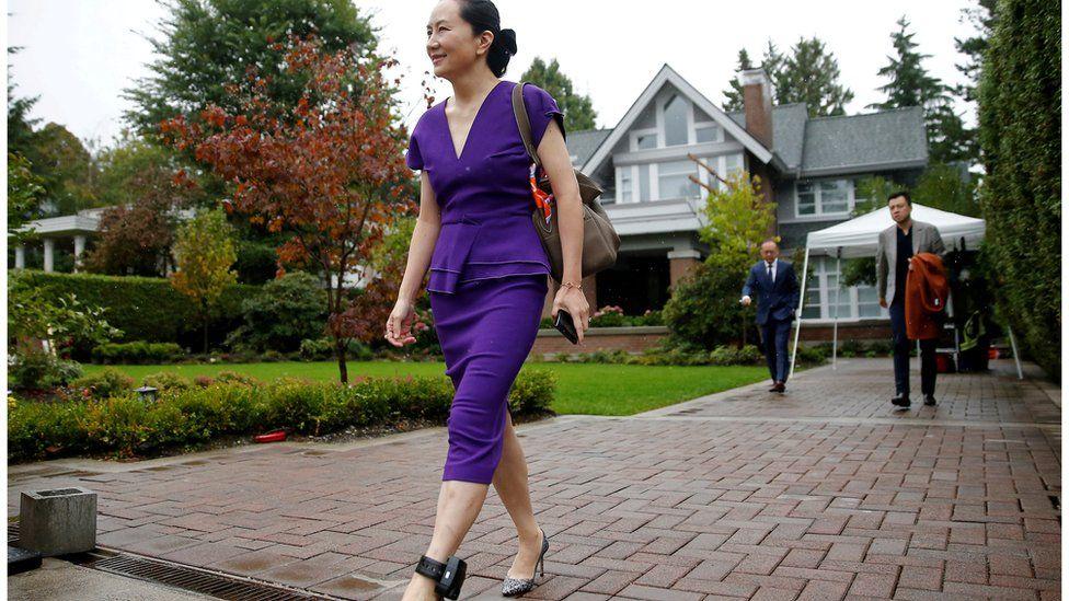Huawei executive Meng Wanzhou seen leaving her Vancouver home
