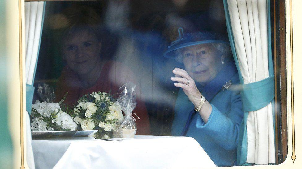 Queen and Nicola Sturgeon
