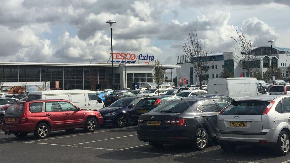The Tesco car park
