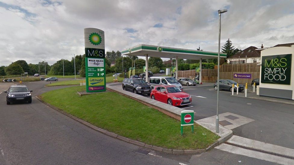 BP petrol station, Bearsden