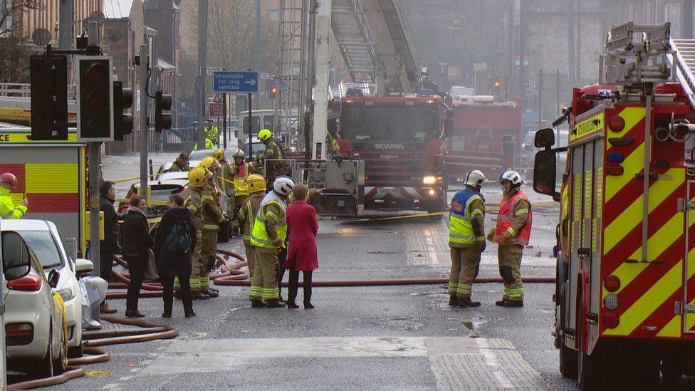 Nicola Sturgeon visited the scene of the fire