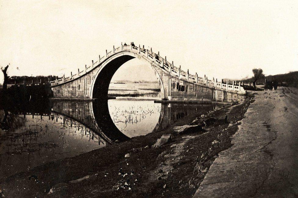 Thomas Child. No. 16. Bridge. 1870s. Albumen silver print.