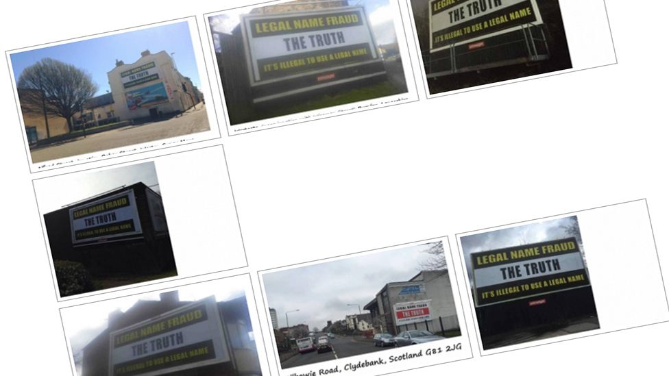 """Legal Name Fraud"" billboards"