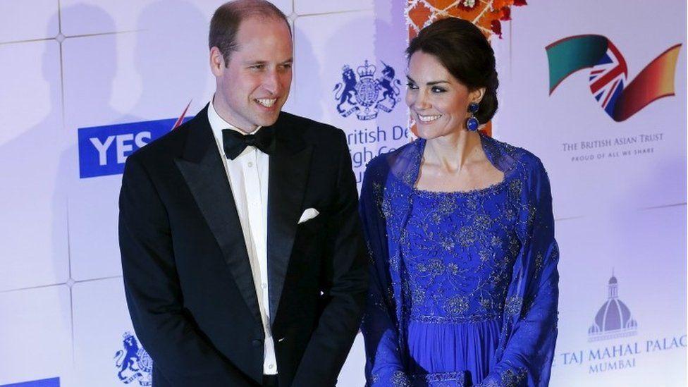 Duke and Duchess of Cambridge at charity gala in Mumbai