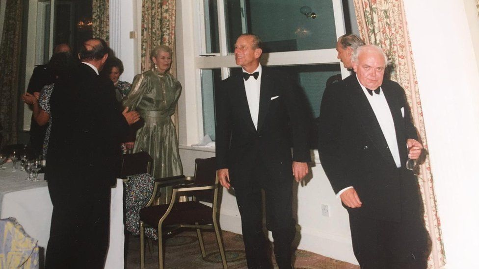The Duke of Edinburgh and Bill Edwards at a function