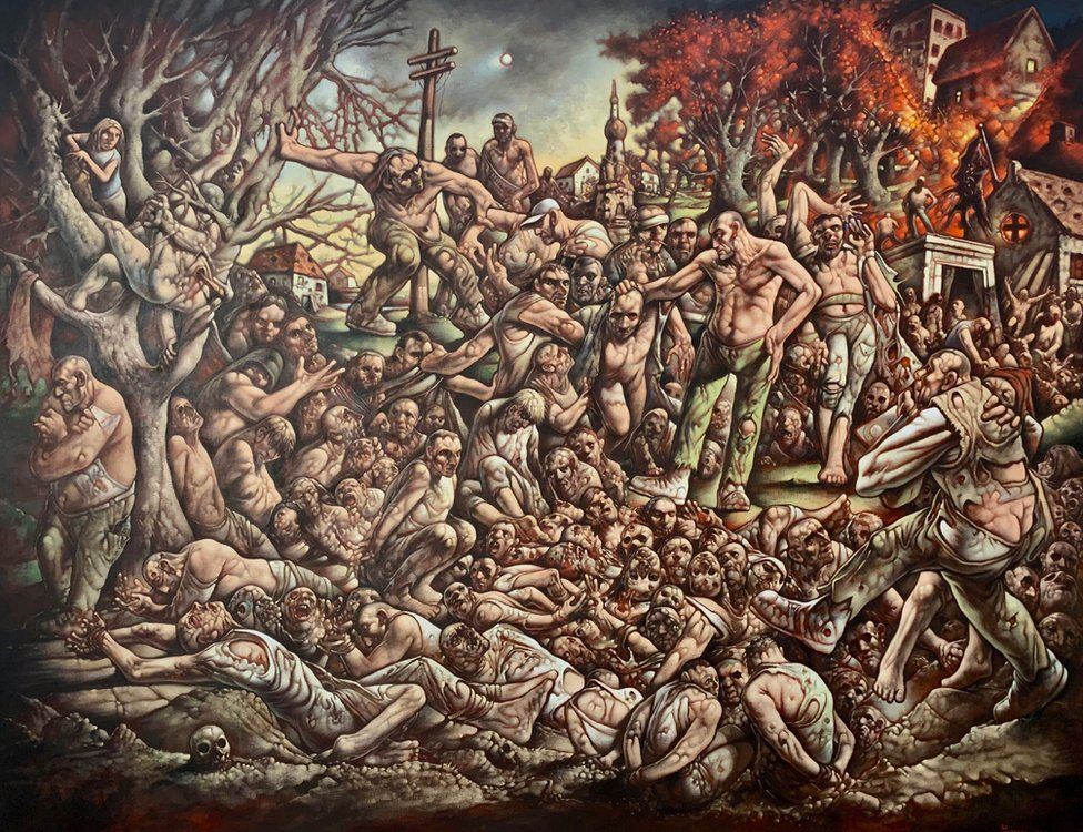Peter Howson returns to 'hell' of Bosnian war with new painting