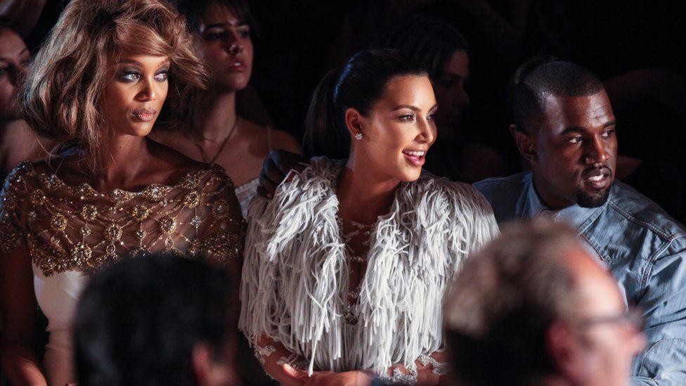 Tyra Banks, Kim Kardashian and Kanye West