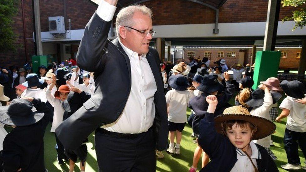 Prime Minister Scott Morrison visits to Galilee Catholic Primary School in Sydney, Australia, 21 September 2018.