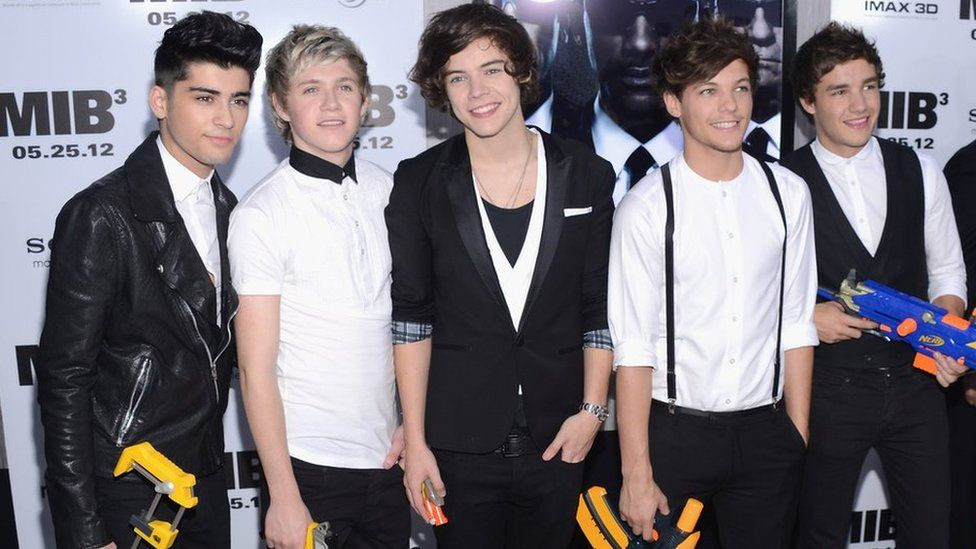 One Direction at the New York Men in Black 3 premiere three years ago; Zayn, Niall, Harry, Louis and Liam