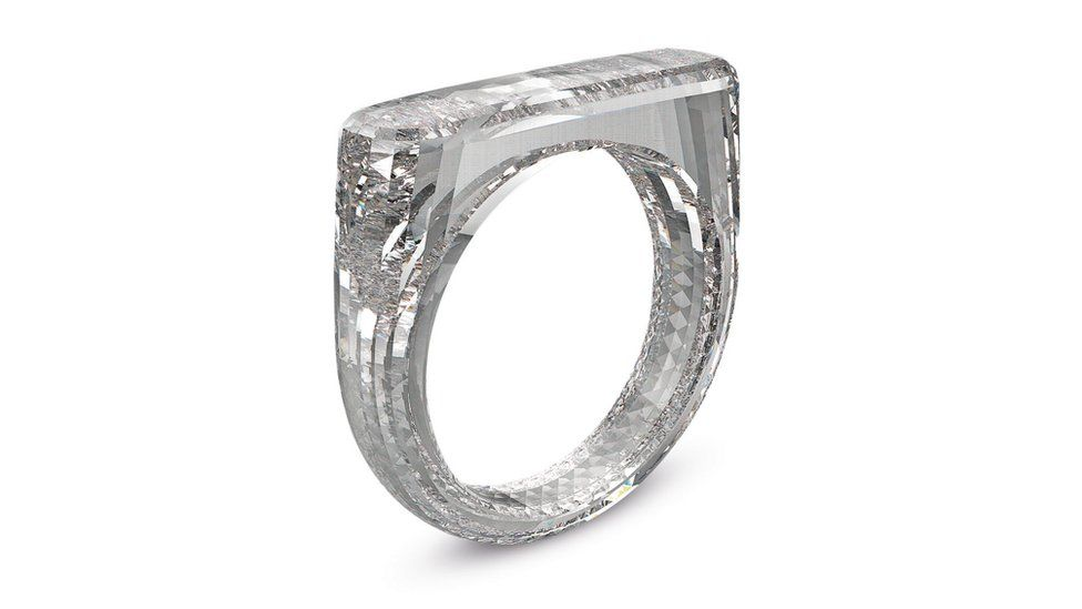 A ring made entirely from diamond