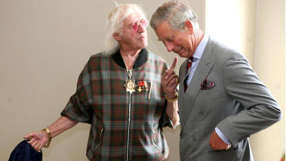 Jimmy Savile with Prince Charles